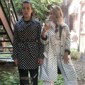 Reversible polkadot rain jacket